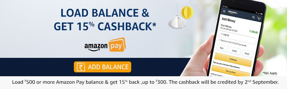 Load and get 15% cashback