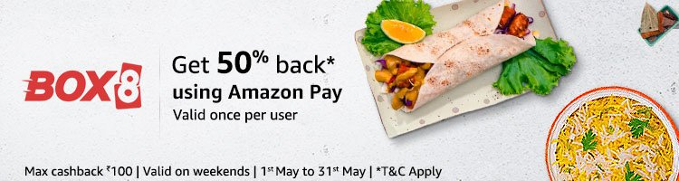 Amazon pay food offers pay on faasos freshmenu box8 to order food box8 fandeluxe Image collections