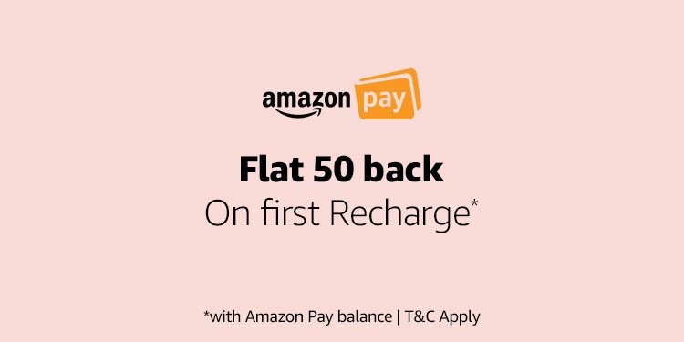 Flat 50 back on first Recharge