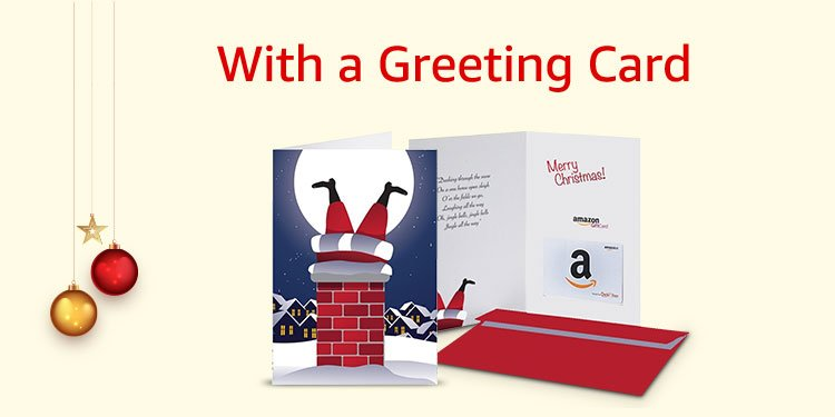 With a greeting card