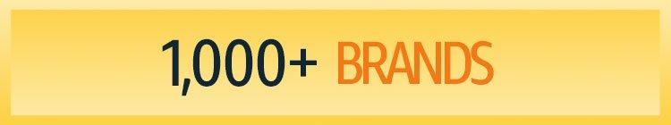 1000+ brands