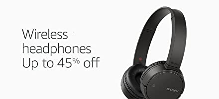 Wireless headphones up to 45% off