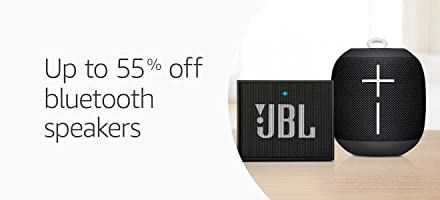 Bluetooth speakers up to 55% off
