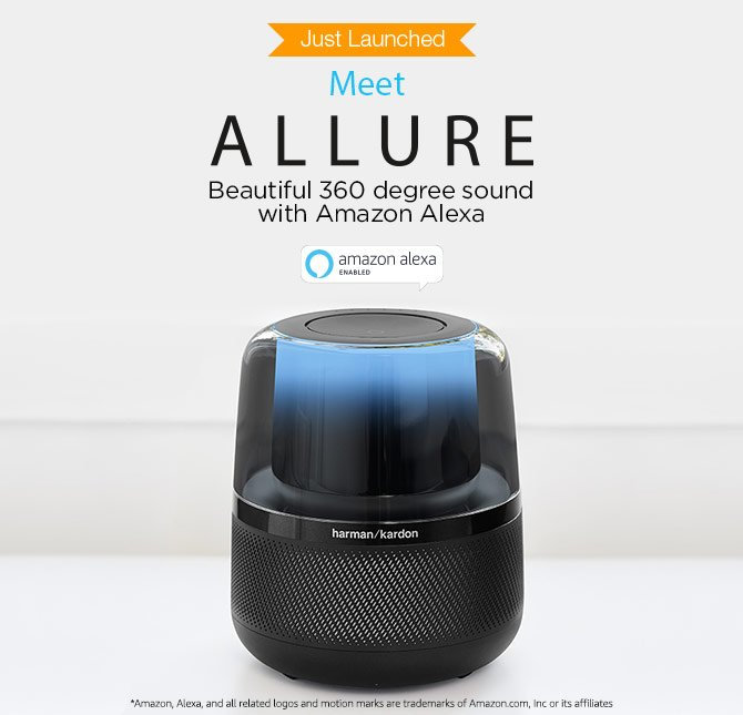 Allure Alexa-enabled Smart speakers
