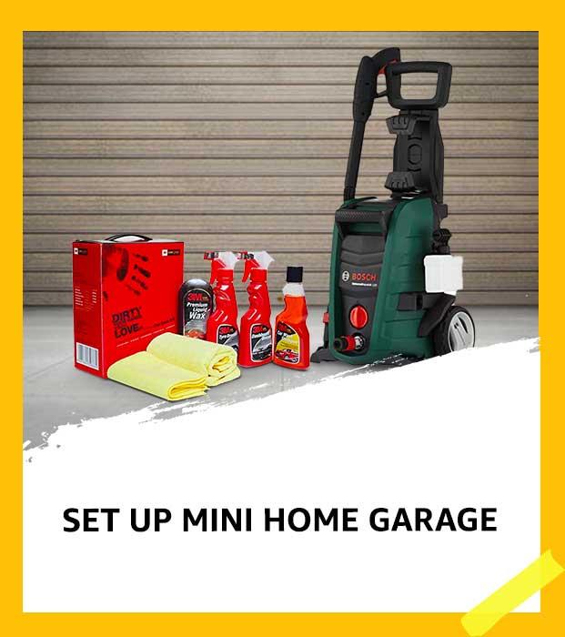 Set up mini home garage
