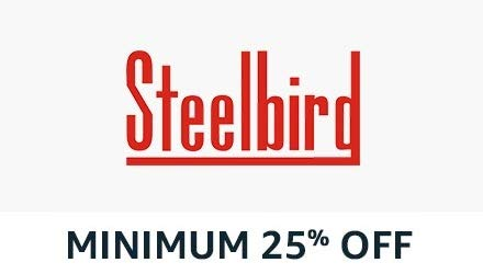 flat 25% off steelbird