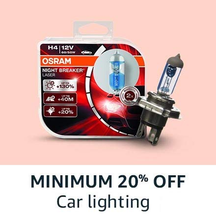 min 20% off car lighting