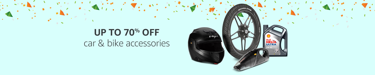 Upto 70% off: car and bike accessories