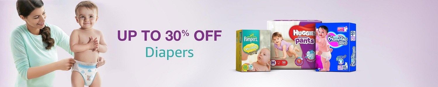 Up to 30% off Diapers