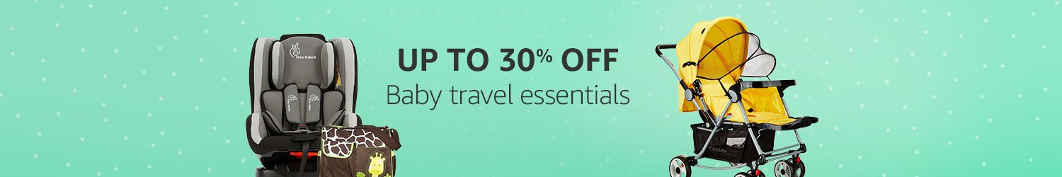 Up to 30% off: Baby travel essentials
