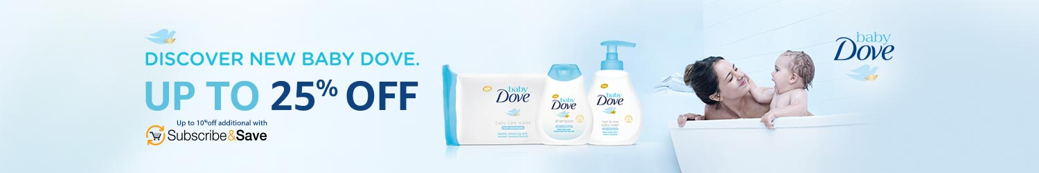 Up to 25% off Baby Dove