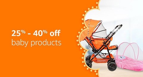 25%- 40% off baby products