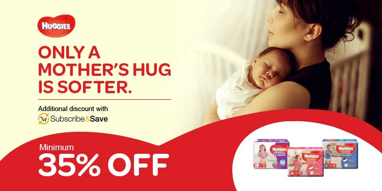 Minimum 35% off Huggies
