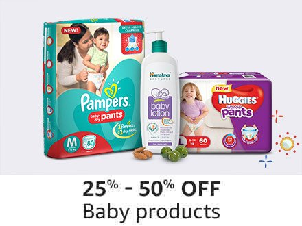25% - 50% off Baby products