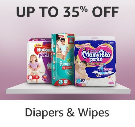 Up to 30% off: Diapers & Wipes