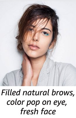 Show: Handloom Show <br/> Look: Filled natural brows+ color pop on eye+ fresh face