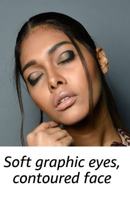 SOFT GRAPHIC EYES + CONTOURED FACE