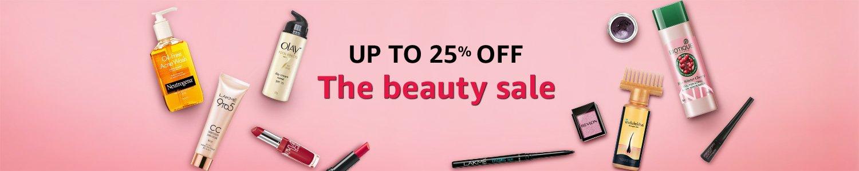 Beauty Sale: Upto 25% off