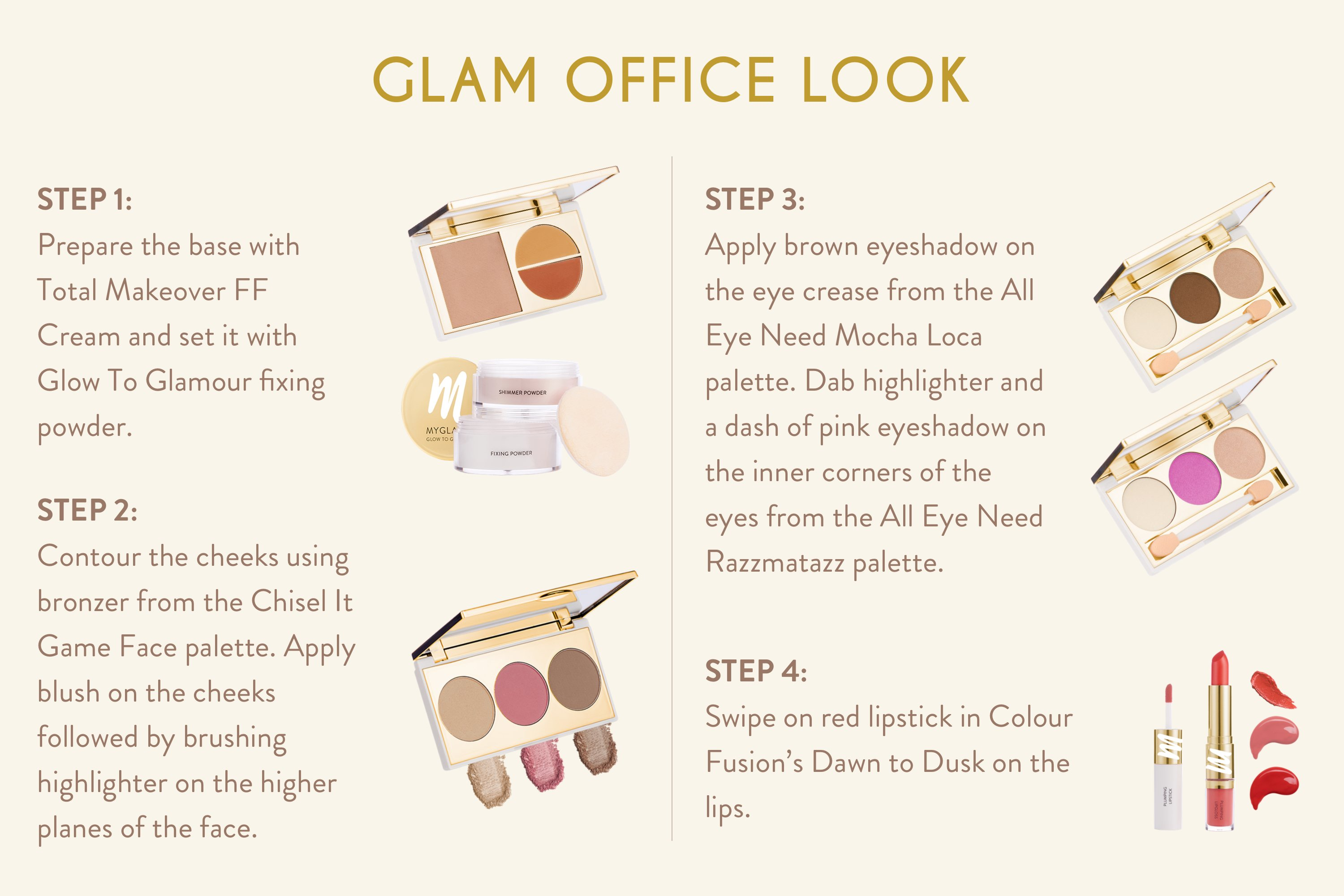 office make up look by myglamm