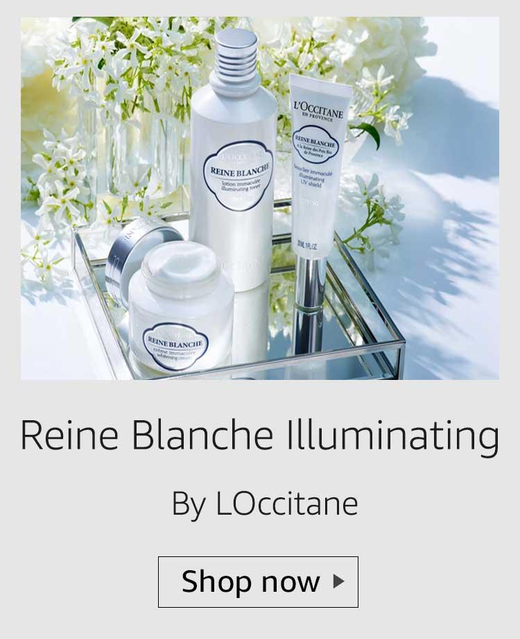 loccitane reine blanche illuminating range