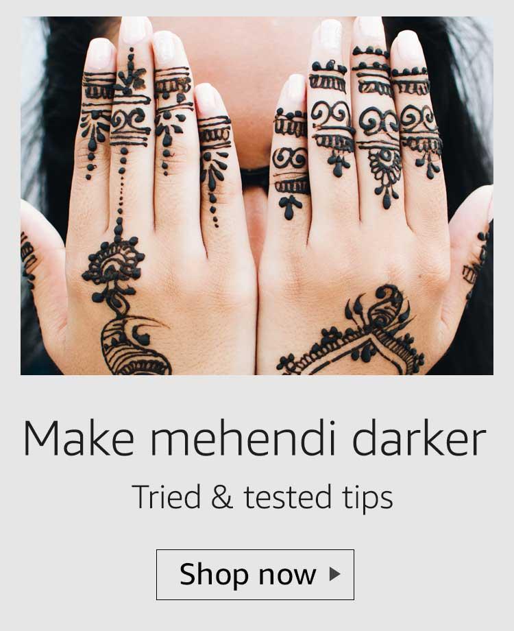 make mehendi darker, make henna darker, make mehendi dark, long lasting mehendi