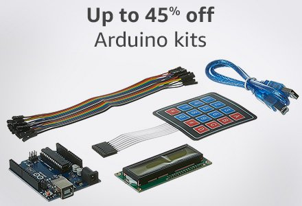 Up to 45% off arduino kits