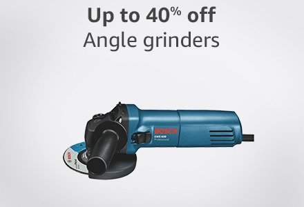 Up to 40% off Angle grinders