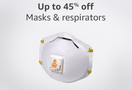 Up to 45% off masks & respirators