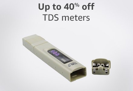 Up to 40% off TDS meters