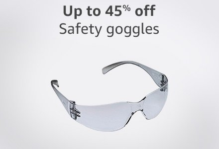 Up to 45% off safety goggles