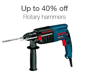 Up to 40% off rotary hammers