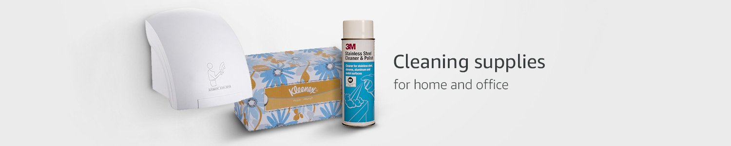 Cleaning supplies for home and office