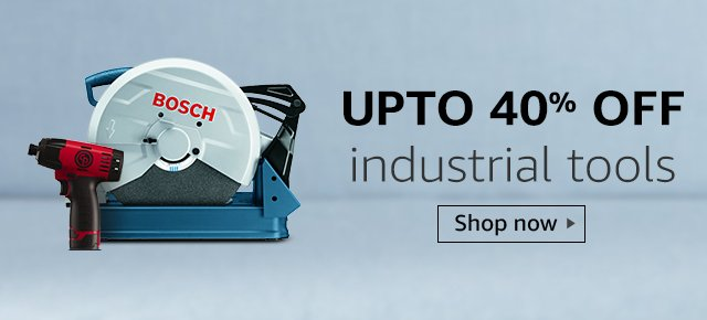 Up to 40% off industrial tools