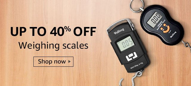 Up to 40% off weighing scales