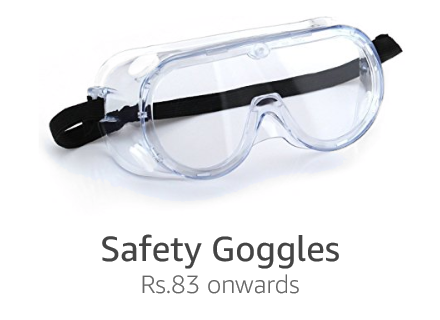 Safety goggles Rs.83 onwards