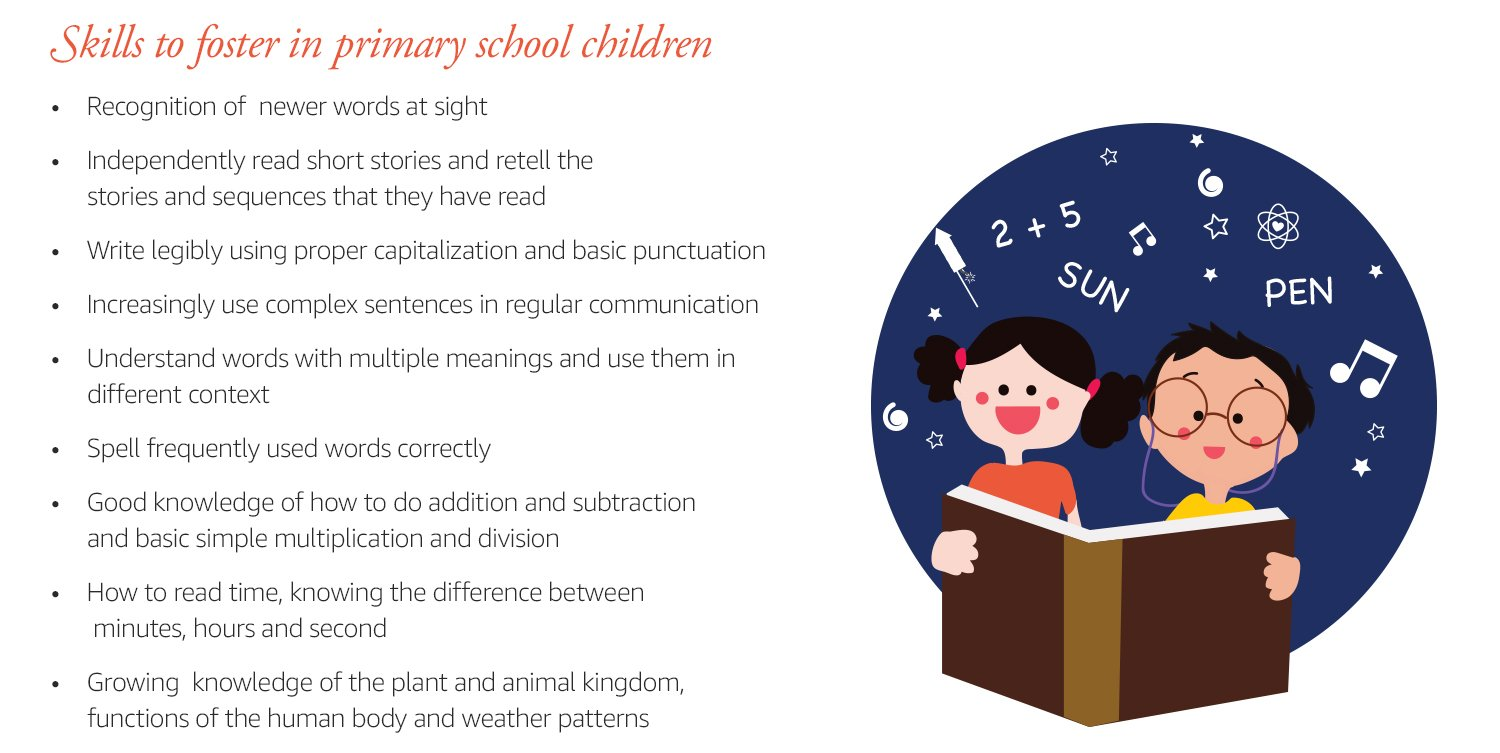 Skills to foster in Primary School Children: