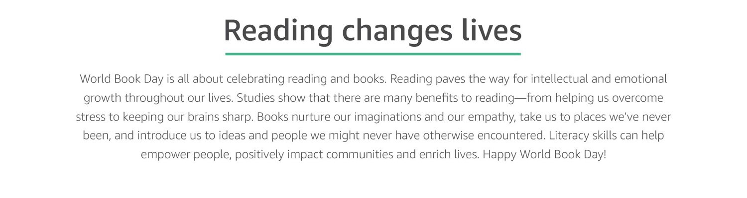Reading changes lives