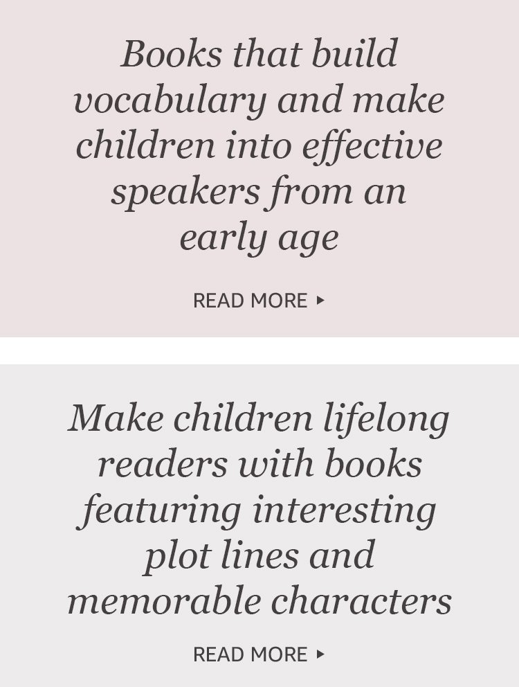 Books that build vocabulary and make children into effective speakers from an early age