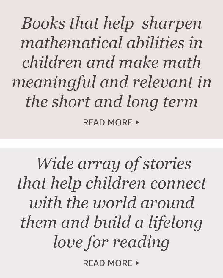 Books that help sharpen mathematical abilities in children and make math meaningful and relevant in the short and long term.