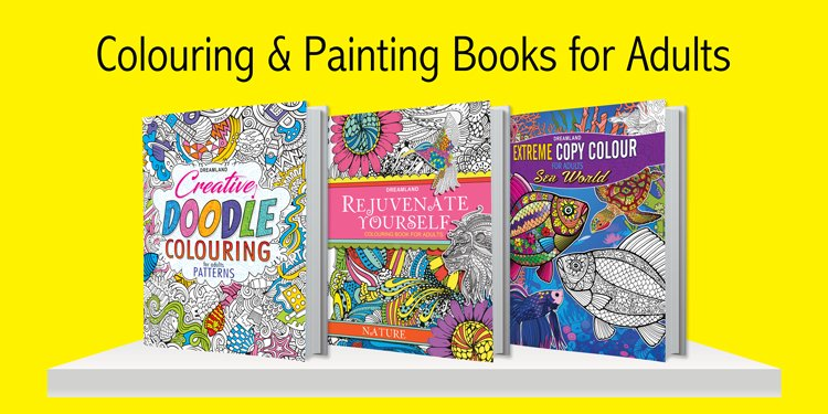 Colouring and Painting Books for Adults