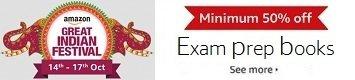 Minimum 50% off: Exam prep books