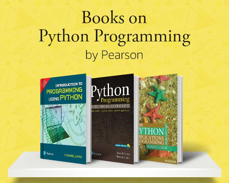 Books on Python Programming by Pearson