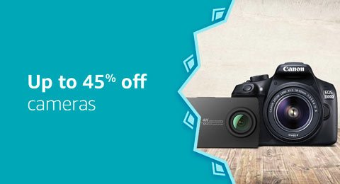 Up to 55% cameras and accessories