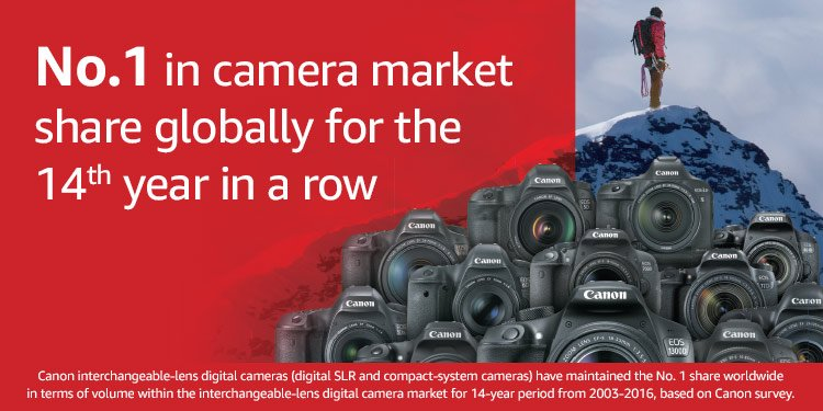 No. 1 in camera market