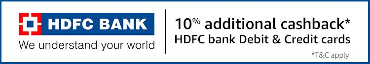 HDFC 10% additional cashback
