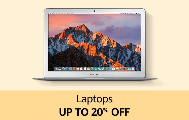 Laptops Up to 20% off