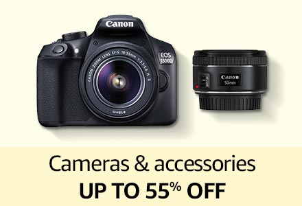 Cameras & accessories up to 55% off