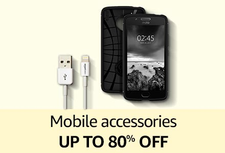 Mobile accessories up to 80% off