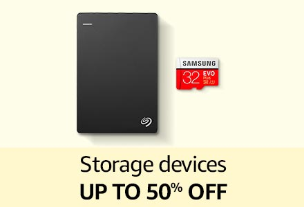 Storage devices up to 50% off