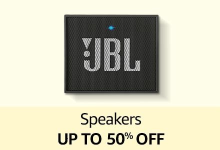 Speakers up to 50% off